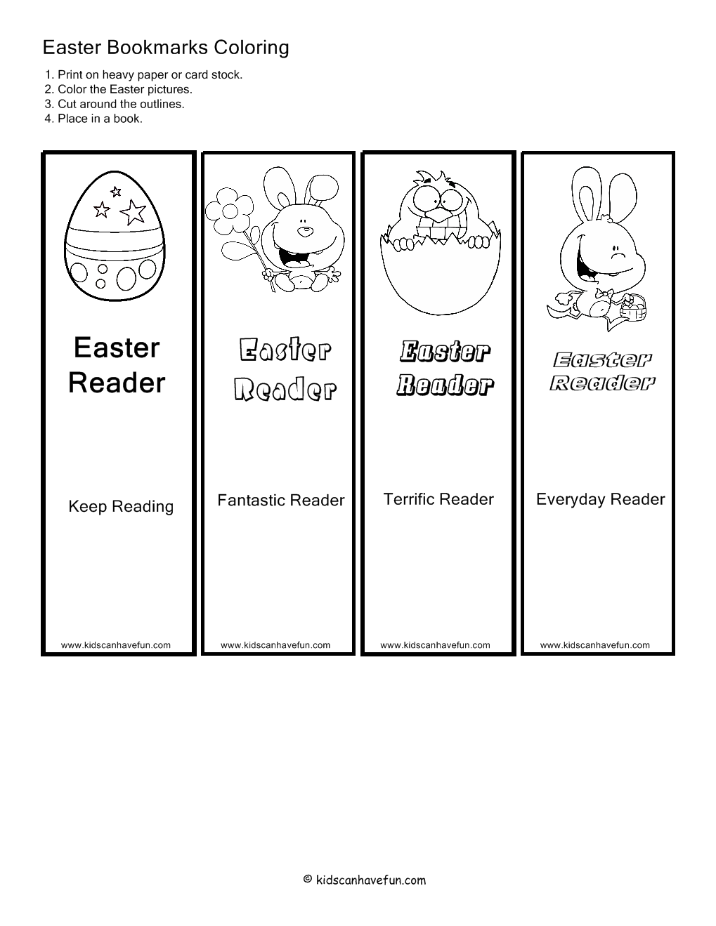 Free coloring page bookmarks