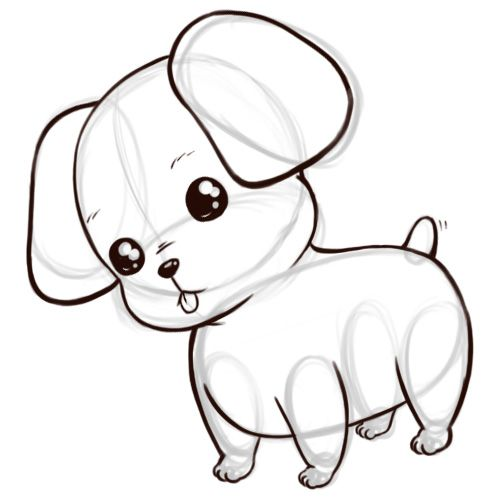 Puppy Drawing Puppy Cartoon Cute Animal Drawings Kawaii