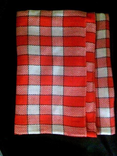 Vintage Red White Plaid Tablecloth . 1950u0027s Square By Bonitalouise