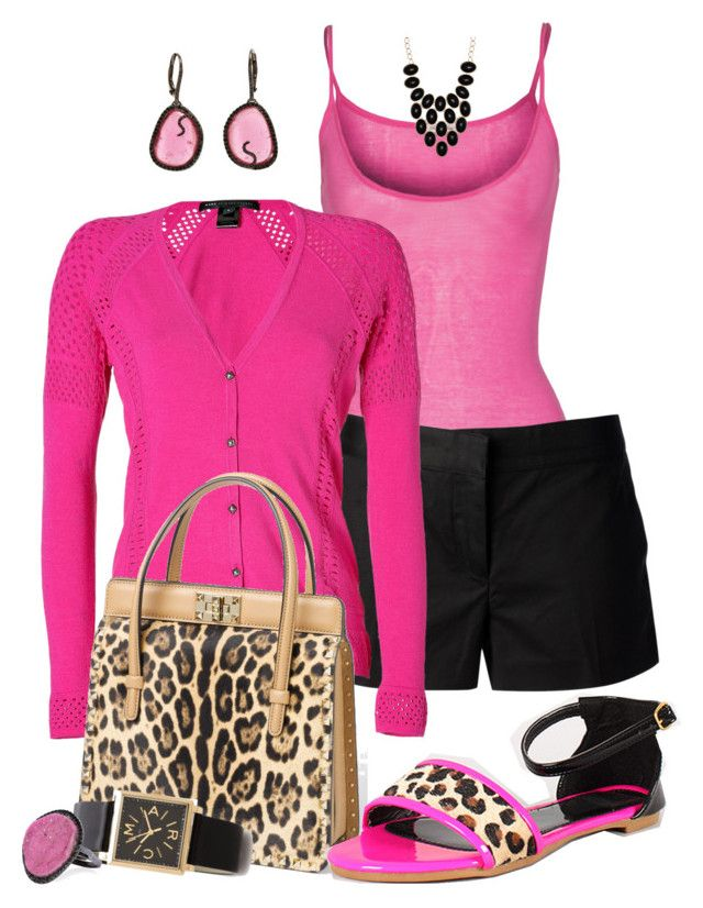 """Pink, Black, Leopard"" by fashionista88 ❤ liked on Polyvore featuring American Vintage, MICHAEL Michael Kors, Marc by Marc Jacobs, Valentino, Sharon Khazzam, Marc Jacobs, Kimberly McDonald and ALDO"