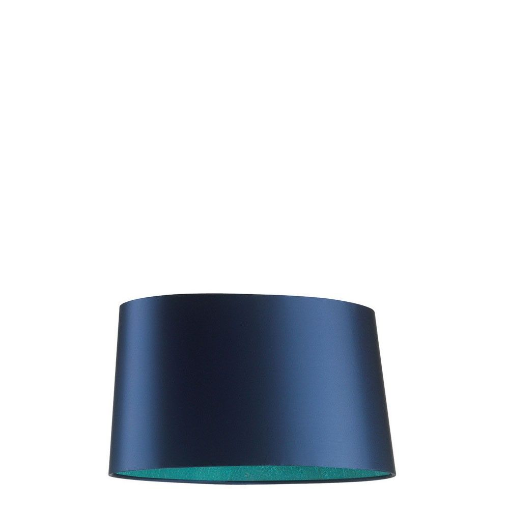 Beautiful Night Blue Satin Sloped Oval Lamp Shade With Contrasting Baltic  Silk Inner. A Striking Shade Which Shimmers In The Light And Casts A Cool  Ocean ...