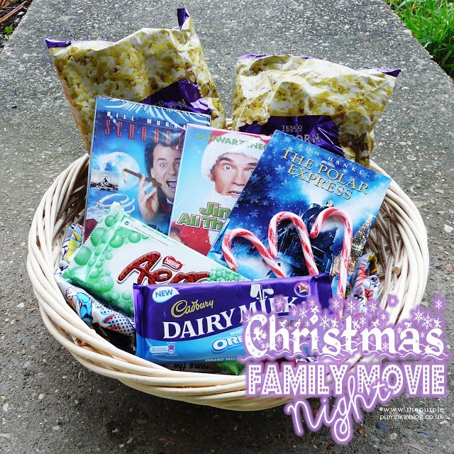 Christmas Family Movie Night Basket Ideas Gift Basket