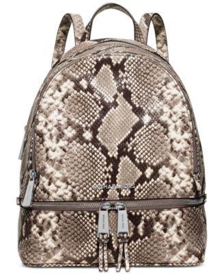 062e69db9cb5 MICHAEL KORS Michael Michael Kors Rhea Zip Medium Backpack.  michaelkors   bags  leather  lining  polyester  backpacks