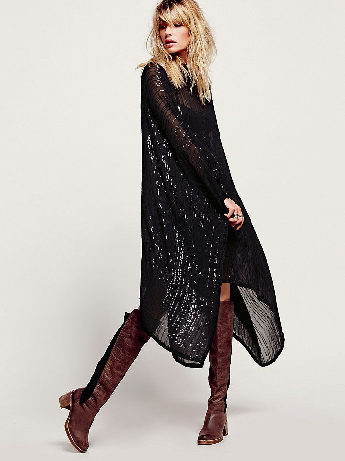 Free People Sequin Sheer Maxi