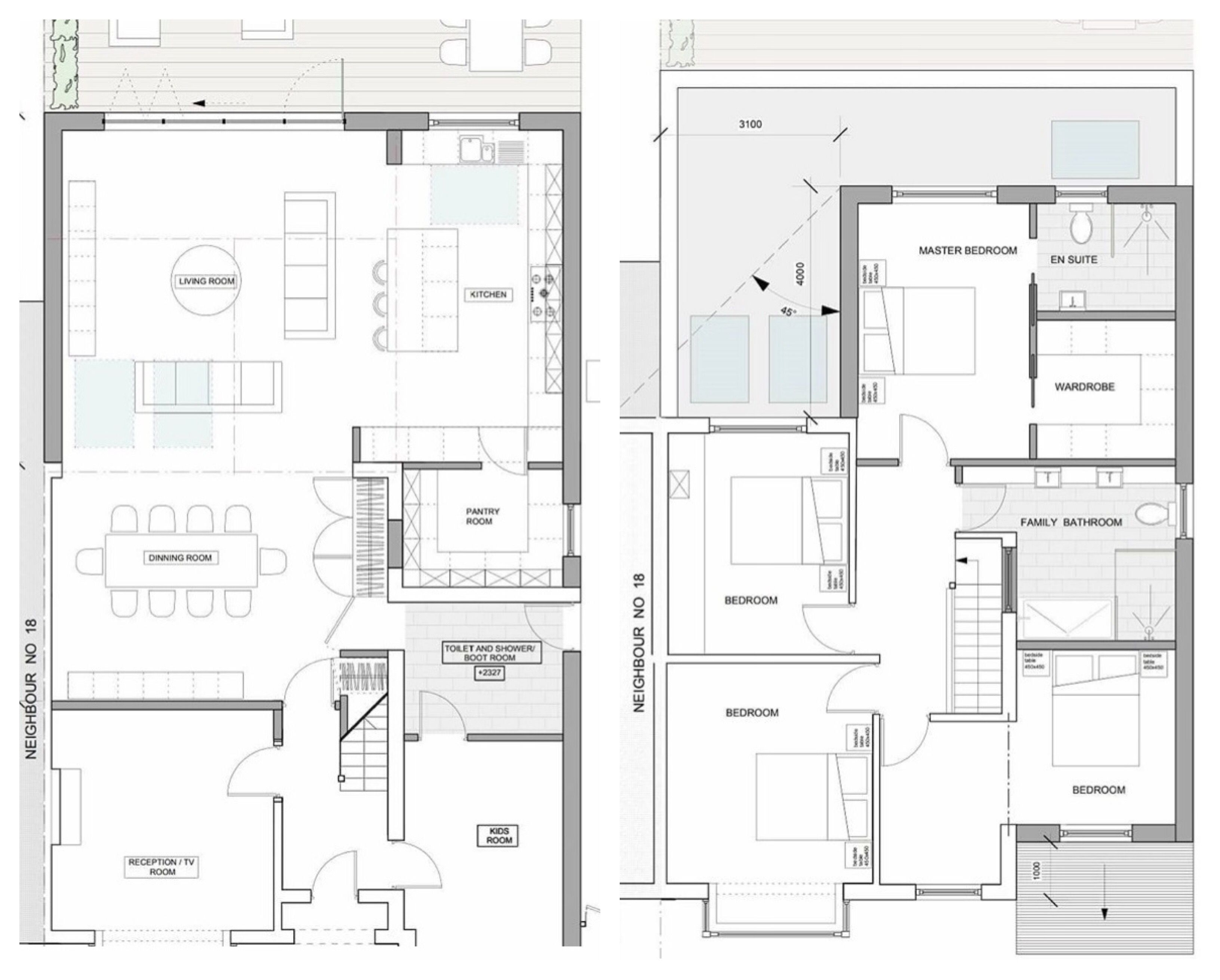 Double Height Extension Semi Detached House House Extension Plans 1930s House Extension House Extension Design