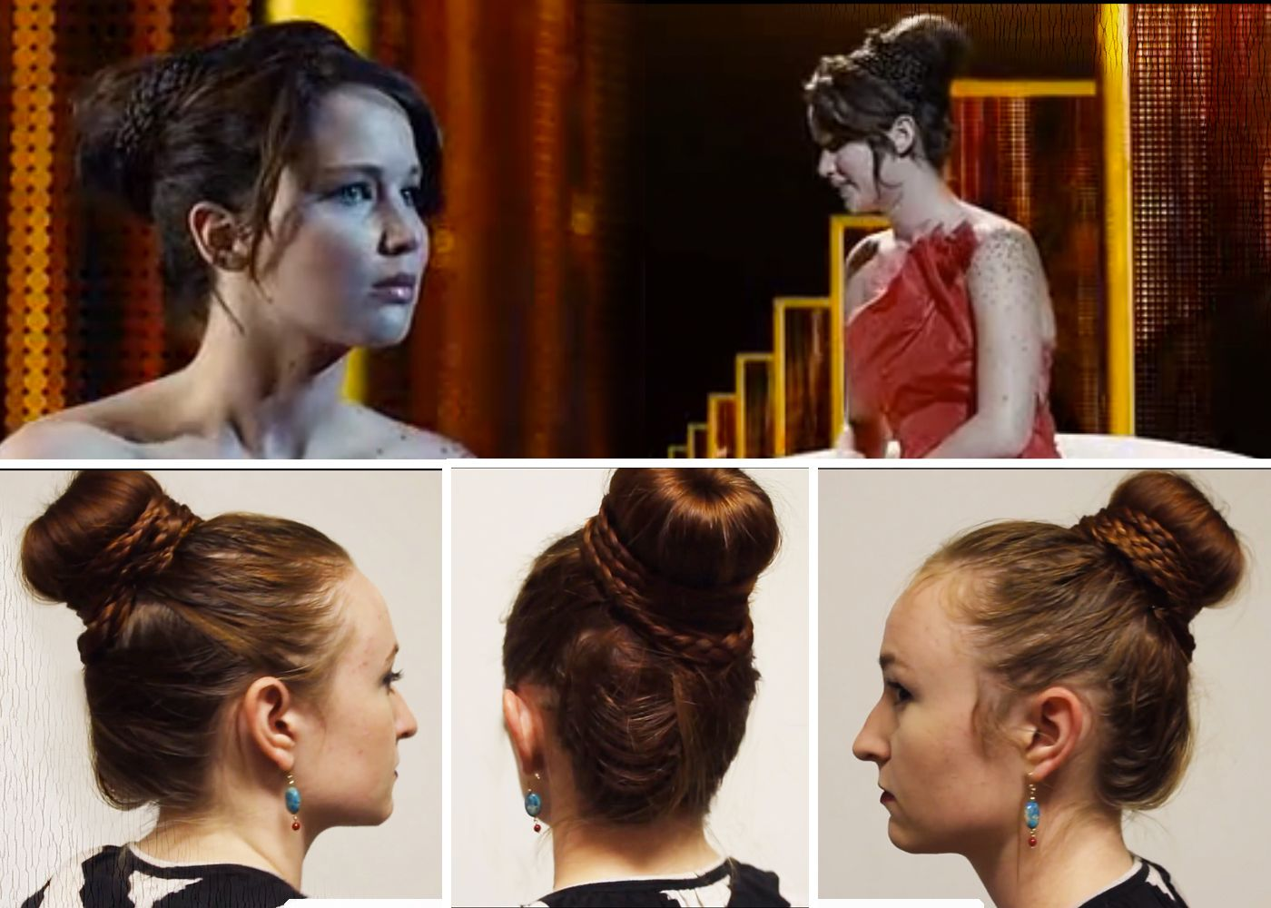 Katniss Interview Hair For The Th Annual Hunger Games Hunger - Bun hairstyle games