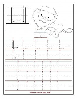 Printable letter L tracing worksheets for preschool.Free ...