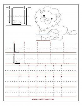 printable letter l tracing worksheets for preschool free writingprintable letter l tracing worksheets for preschool free writing practice worksheets for 1st graders letter l for lione