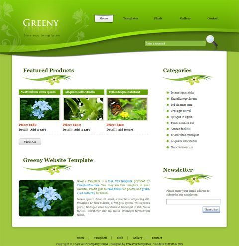 Website Template Garden Design Template On Landscape Design Flash Template Best