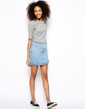 American Apparel High Waist Denim Skirt | ASOS | Style Inspiration ...