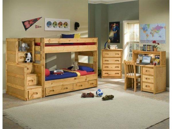 Etagenbett Kinder Massivholz : Hochbett im kinderzimmer 100 coole etagenbetten für kinder kids
