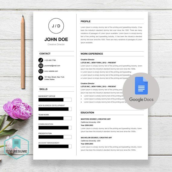 New Google Docs Resume, Google Docs Resume Template, Google Docs - google docs resume templates