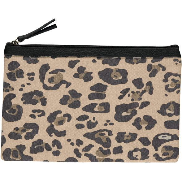 Leo canvas large clutch in cotton/canvas, in dusty rose and grey - ss16