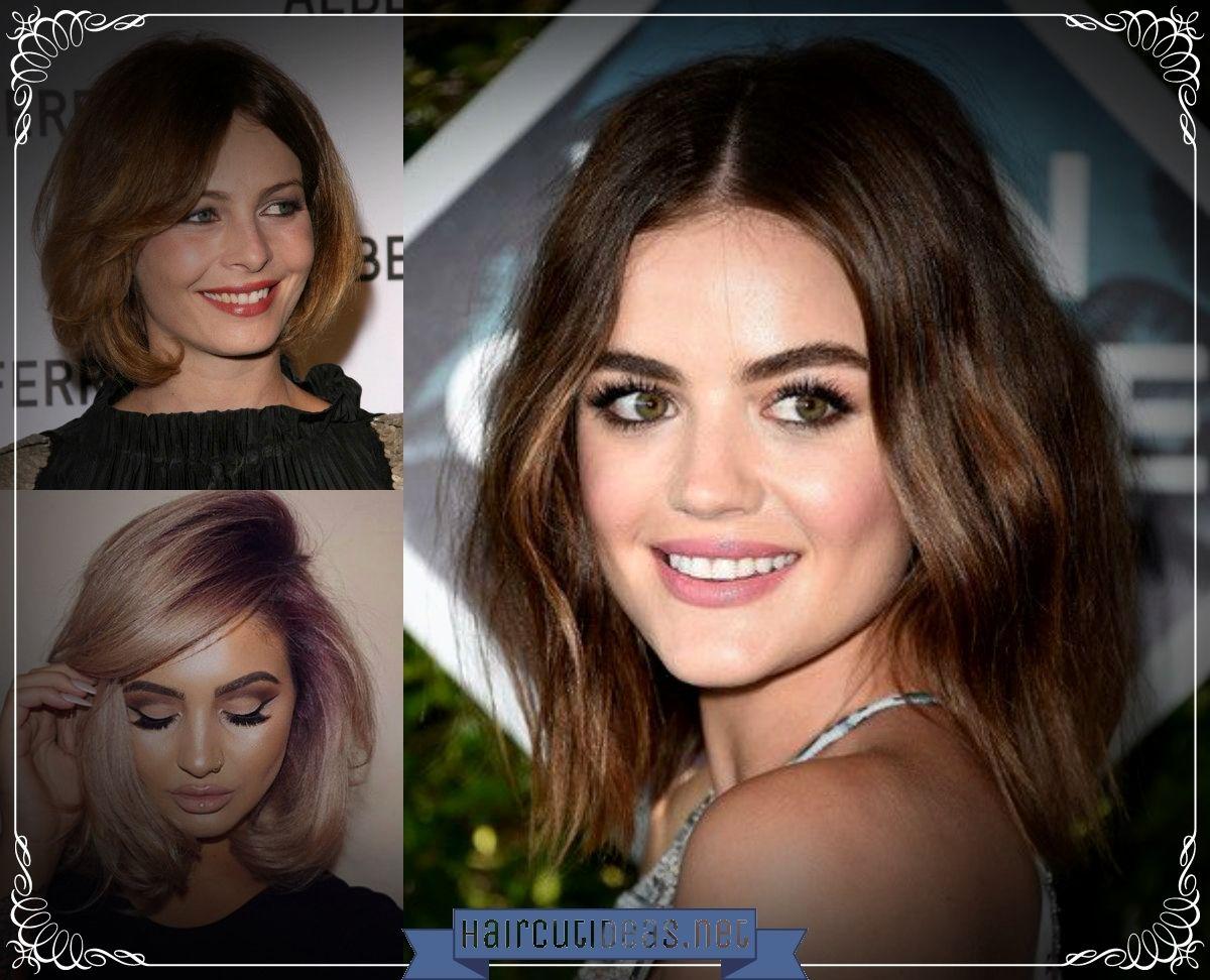Best Haircuts For Round Faces Haircut Ideas Pinterest Haircuts