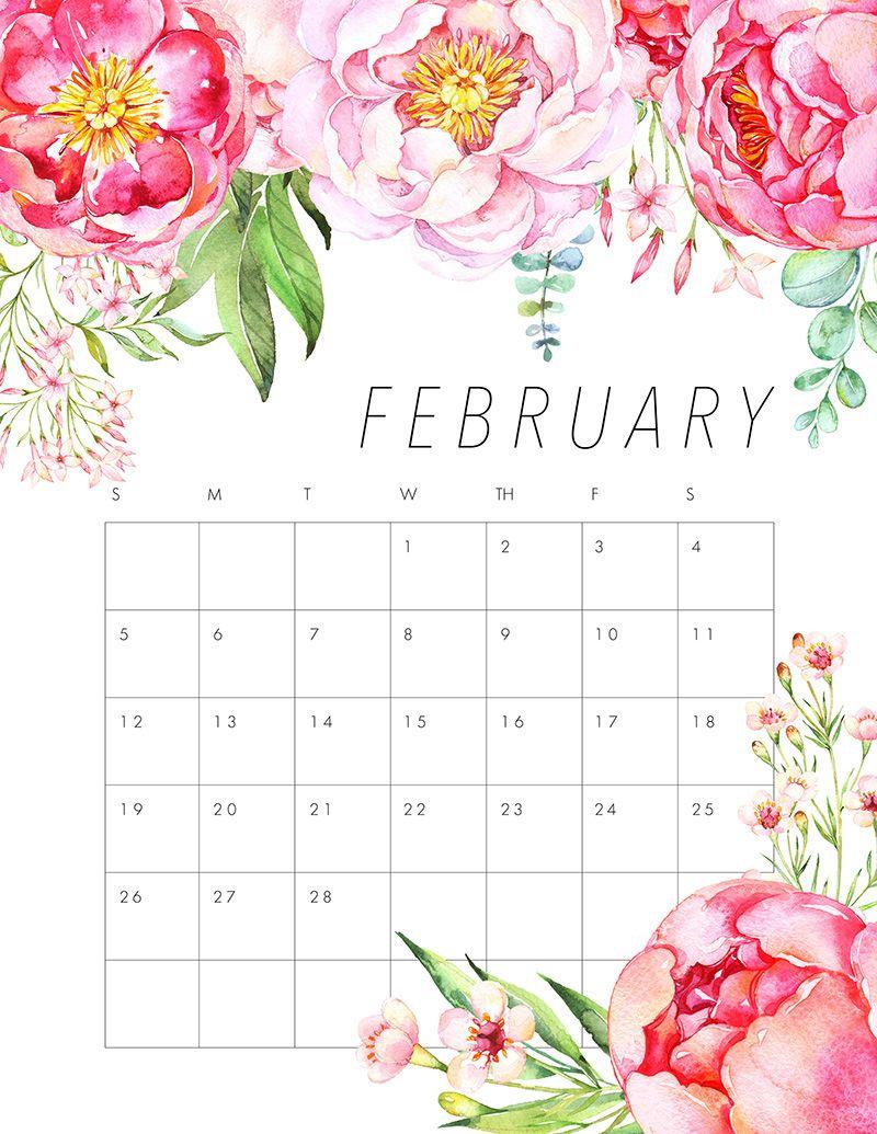Free Printable 2017 Floral Calendar The Cottage Market 2017 Floral Calendar Calendar Printables Calendar Wallpaper