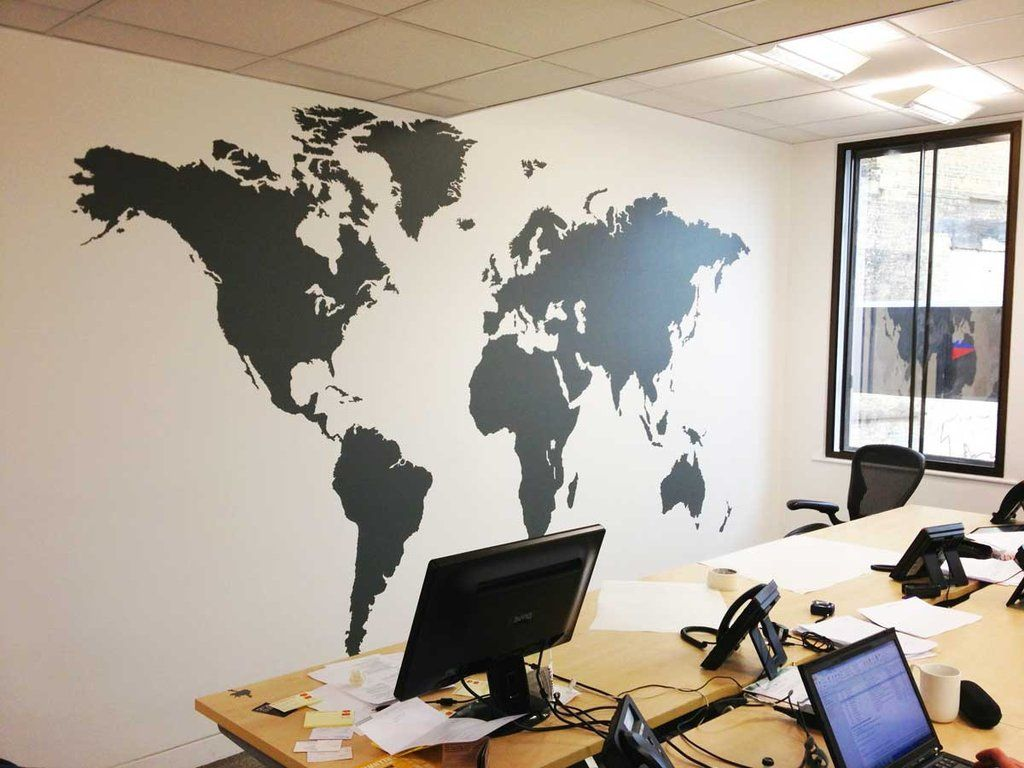 Extra large world map vinyl wall sticker vinyl wall stickers and extra large world map vinyl wall sticker in by vinyl impression gumiabroncs Gallery