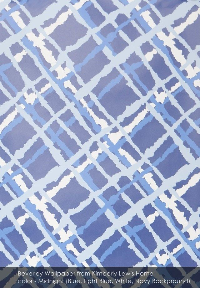 Beverley wallpaper from Kimberly Lewis Home in Midnight (Blue, Light