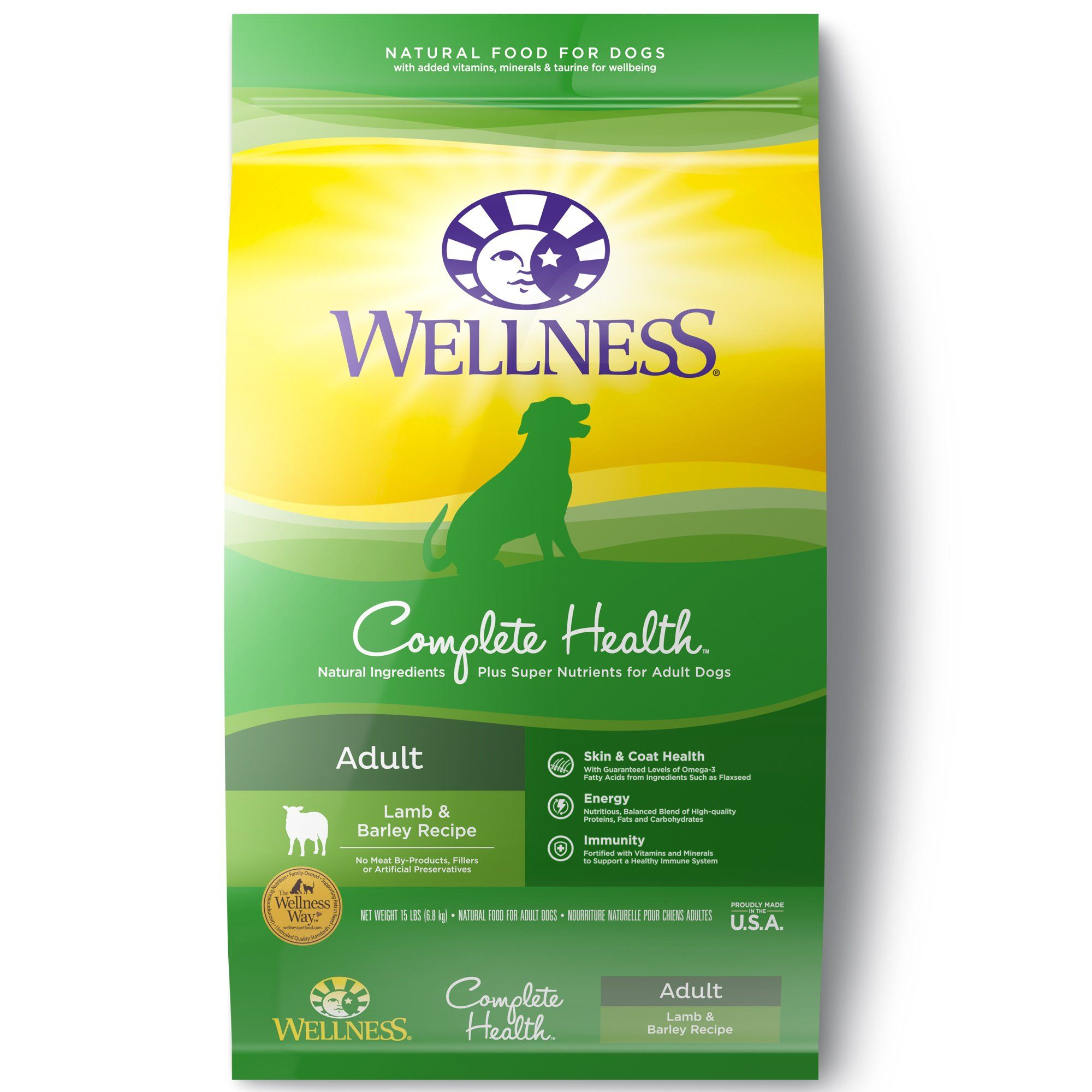 Wellness Complete Health Natural Lamb Barley Meal Recipe Dry Dog