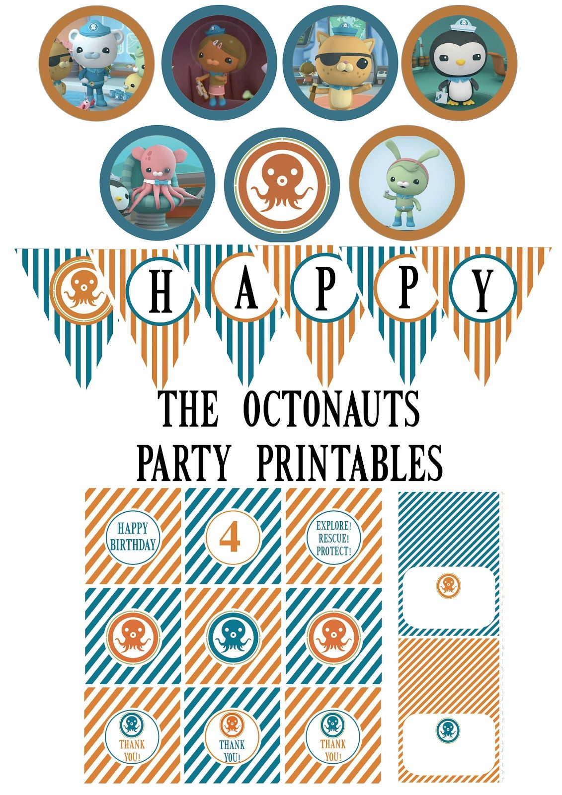 Octonauts+Party+Printables.jpg 1,131×1,600 ピクセル