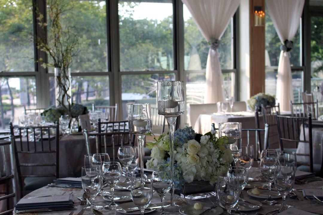 Battery Gardens Wedding Wedding Reception Flowers Tall