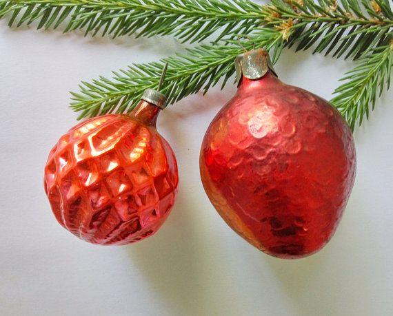 Christmas ornaments set of 2 Glass Christmas tree decorations