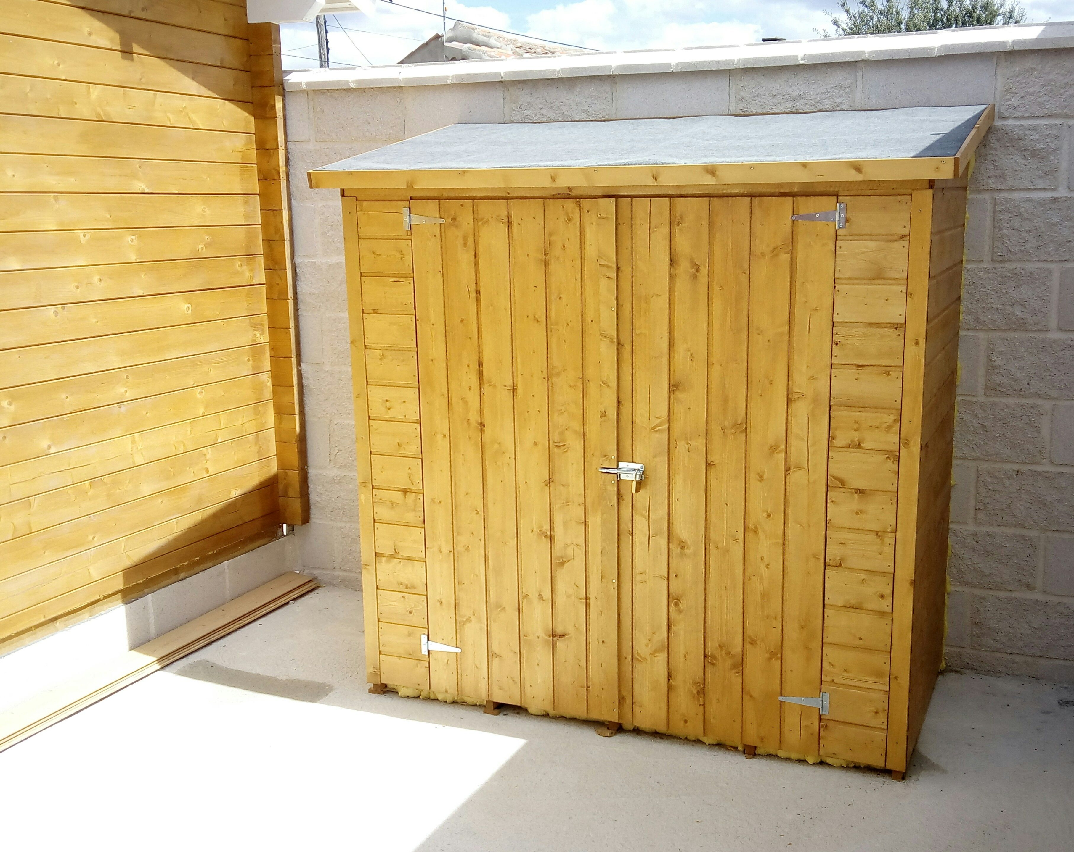 Armario de madera para terraza o jard n armario o arc n de madera amplio funcional y de f cil - Armario para jardin ...