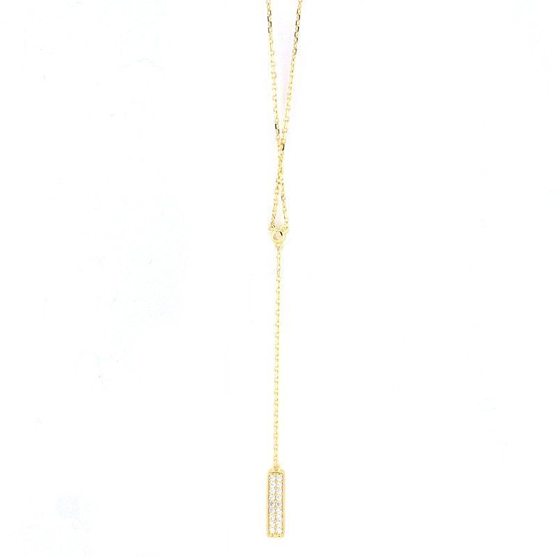 925 Sterling Silver Bar Y Chain