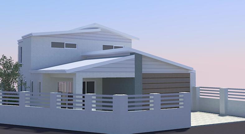 Bassendean - 3036 - Custom designed home on a narrow block – sketch plan rear elevation