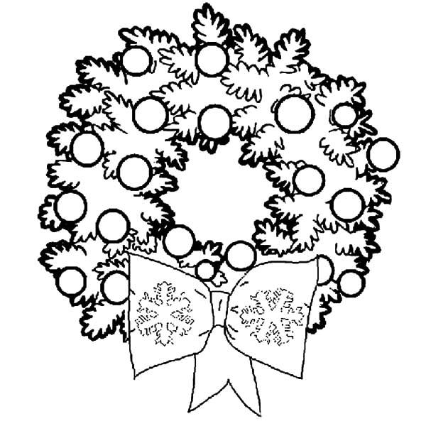 Christmas Wreaths For Christmas Decorations Coloring Pages ...