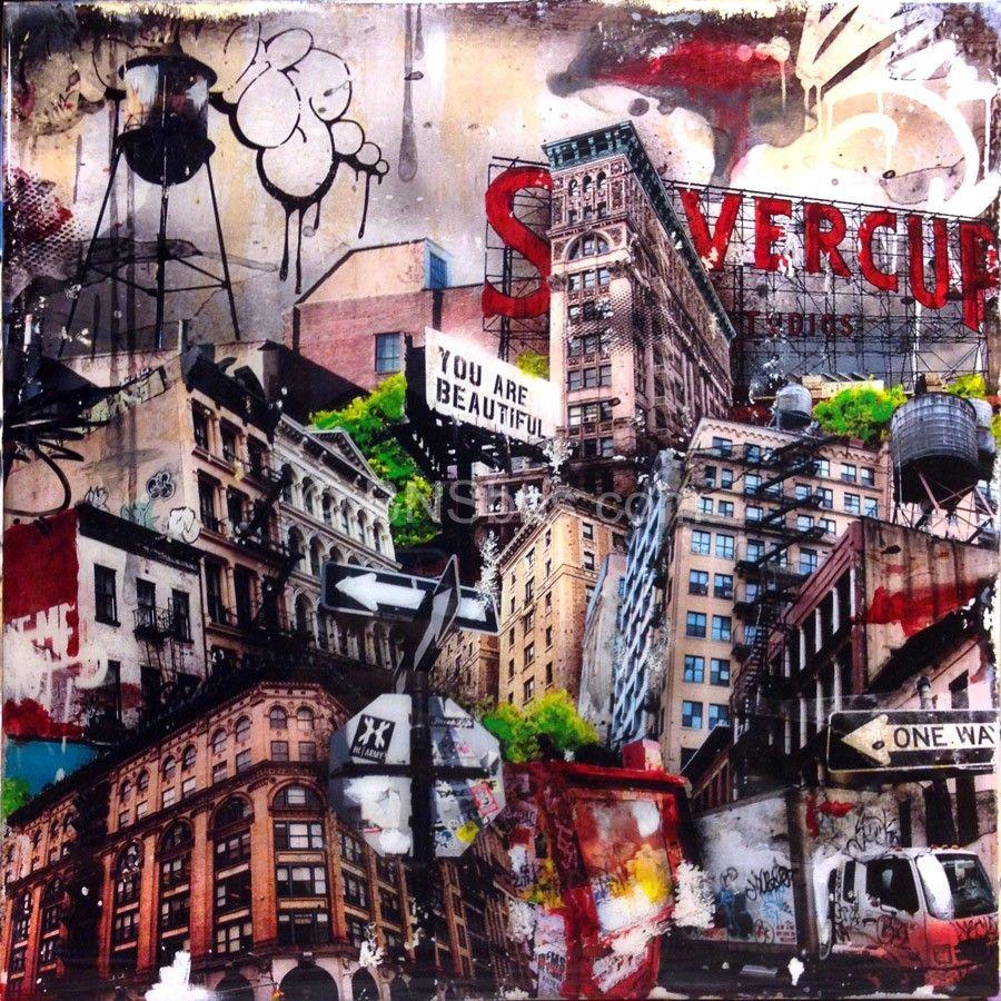 Ny Skyline New York Graffiti City Scape Bns Street Art Fine Art