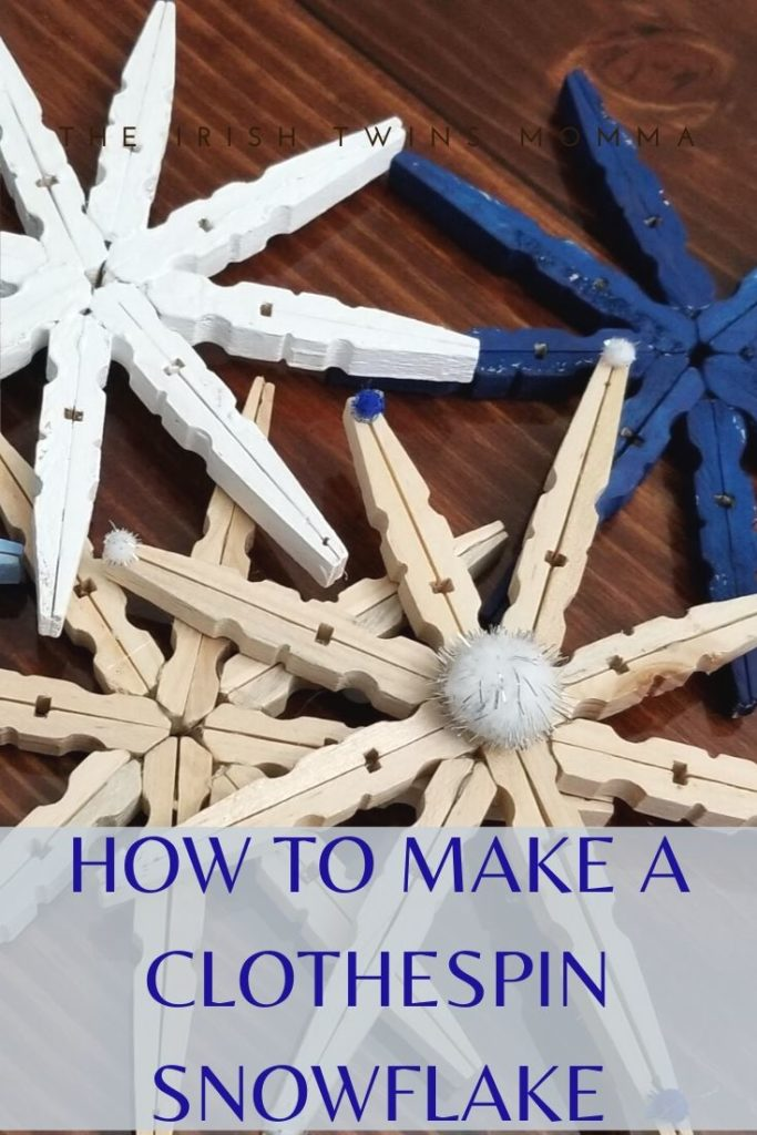 How to Make a Clothespin Snowflake in 2020 Clothes pins