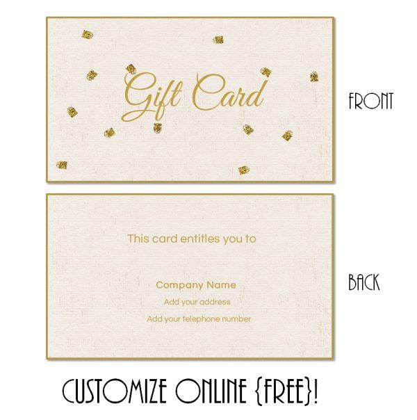 Free Printable Gift Card Templates That Can Be Customized Online Instant You Add Text And Or Logo