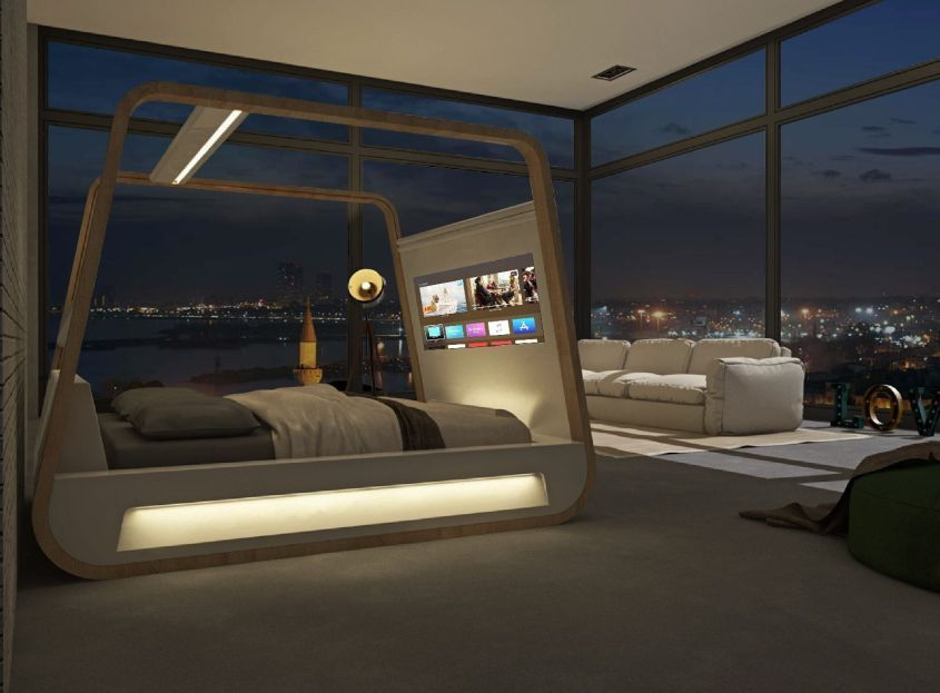 Hibed Drift Off To The Future With This Smart Bed By Hi Interiors