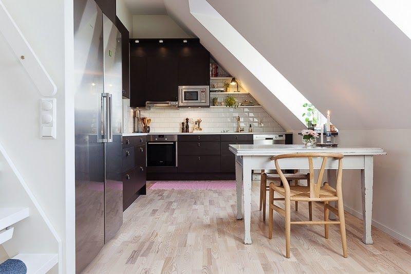 Home Mieszkanie Na Poddaszu Black Kitchens Kitchen Inspirations Kitchen