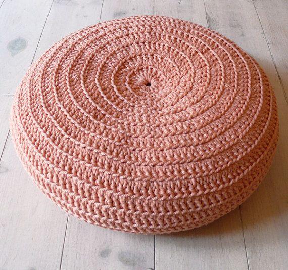 Round Rug floor crochet 100cm di lacasadecoto su Etsy
