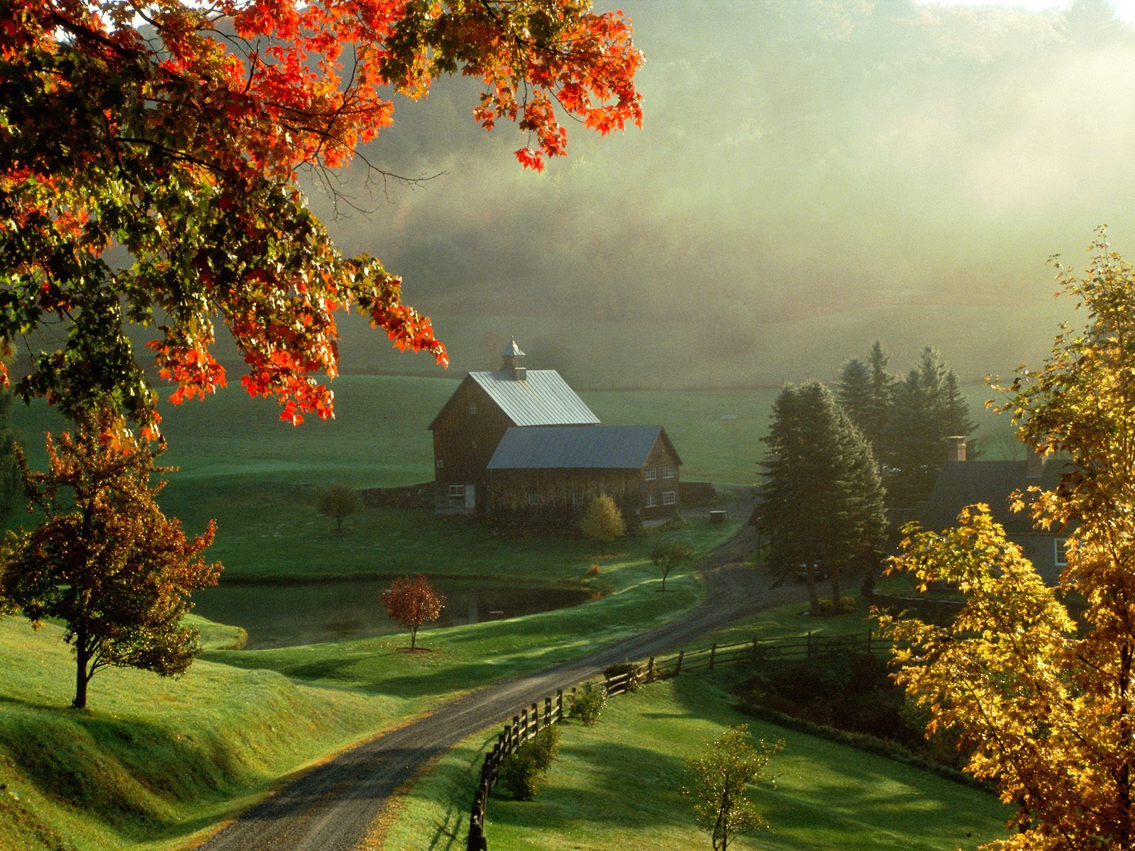 Cool Nature Hd Widescreen Backgrounds Wallpapers Cool Nature Wallpaper Want This Picture On My Desktop Beautiful Farm Beautiful Places Woodstock Vermont