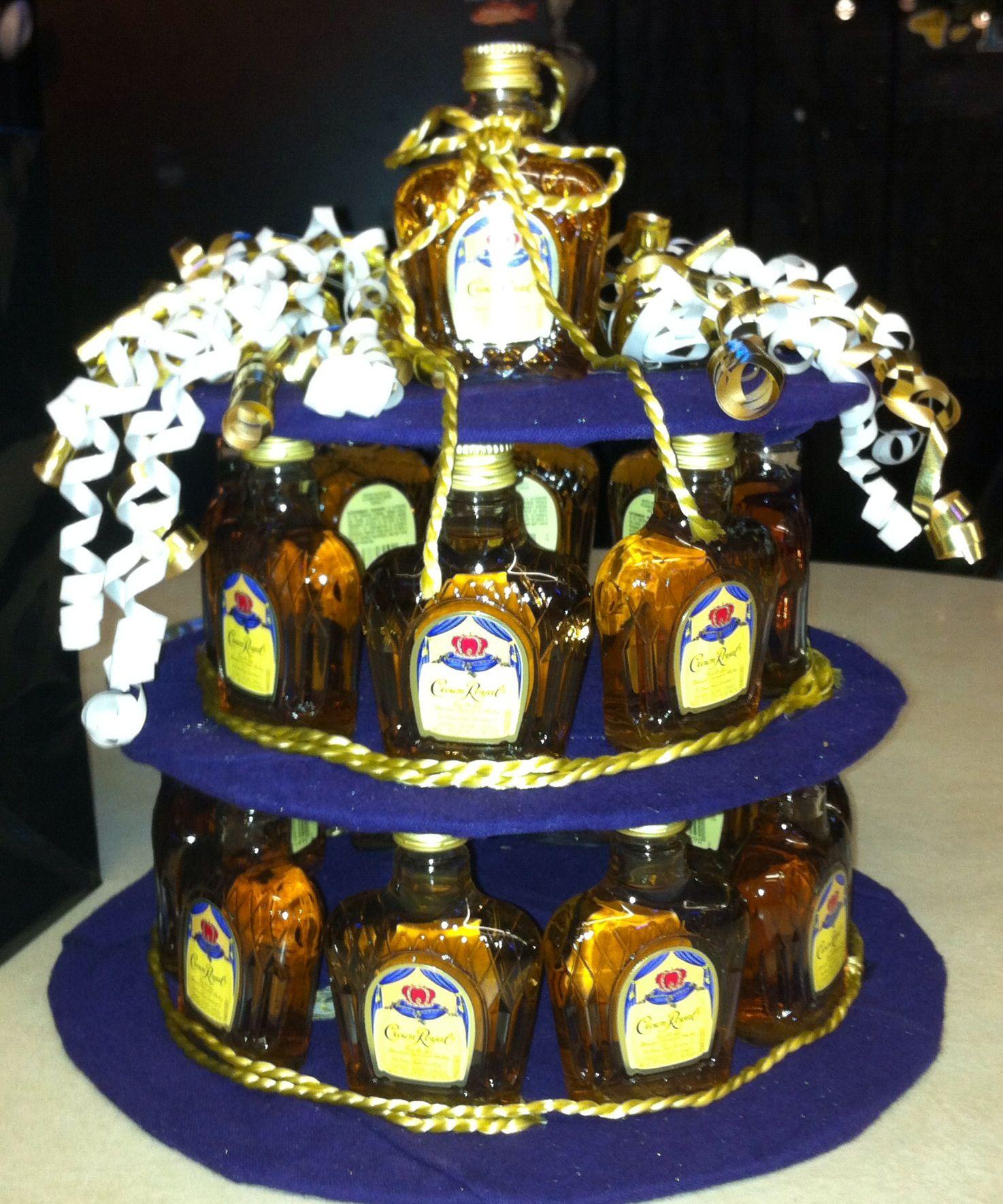 Crown Royal Bottle Birthday Cake
