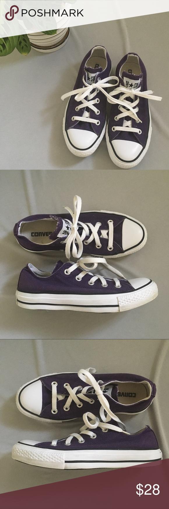Converse Chuck Taylor All Stars Low Top Purple Color: Dark