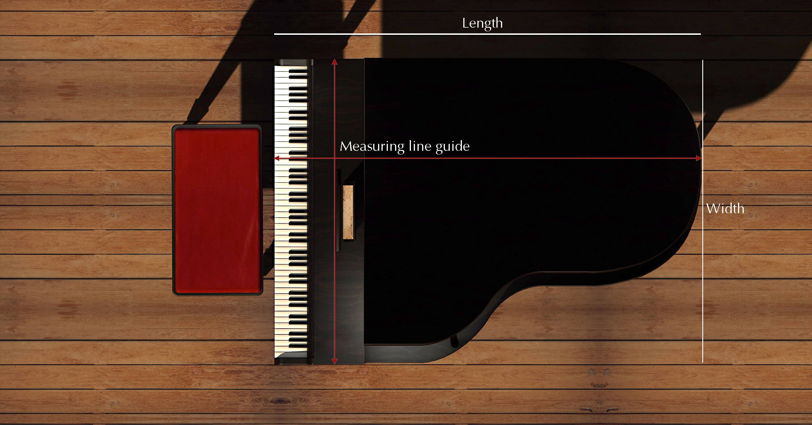 Sizing Guide for Piano Covers | Piano covers | Yamaha grand piano