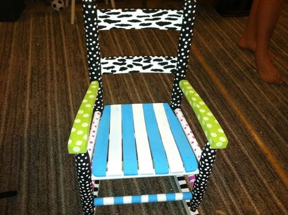 Funky Painted Wood Chairs Child S Funky Hand Painted
