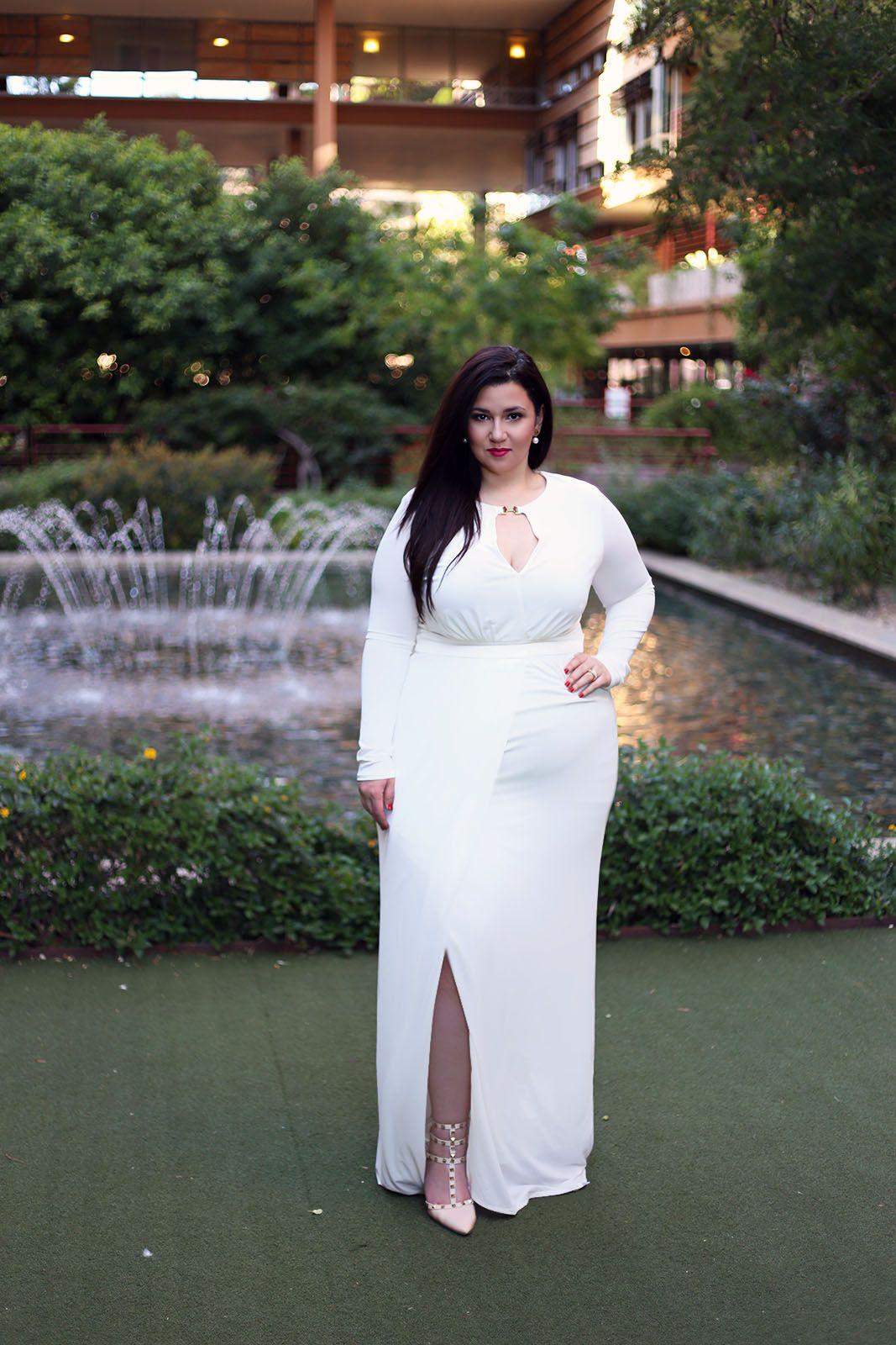 Plus size glam wedding dresses white long maxi dress glam wedding