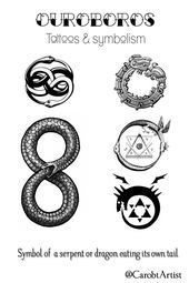 carobtArtist Whats a Ouroboros Symbol of a serpent or dragon eating its    carobtArtist Whats a Ouroboros Symbol of a serpent or dragon eating its  carobtArtist W