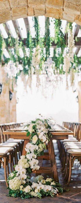 60 Ideas Wedding Flowers White Greenery Table Settings   - White wedding flowers -