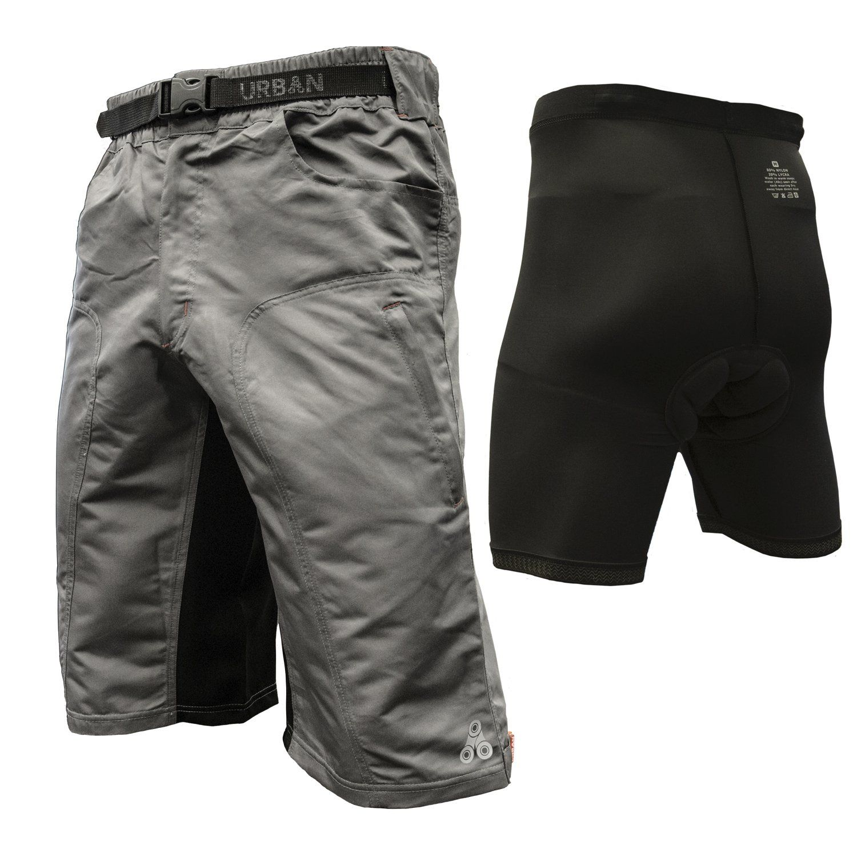 Mens Cycling Shorts Quality Anti-Bac Coolmax Padded MTB Bicycle Short