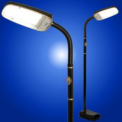 Bluemax 70w Black Dimmable 10 000 Lux Floor Lamp Full Spectrum Light Therapy In The Form Of A Floor Lamp The Bluemax 70w Dimmable Floor Lamp Floor Lamp Lamp