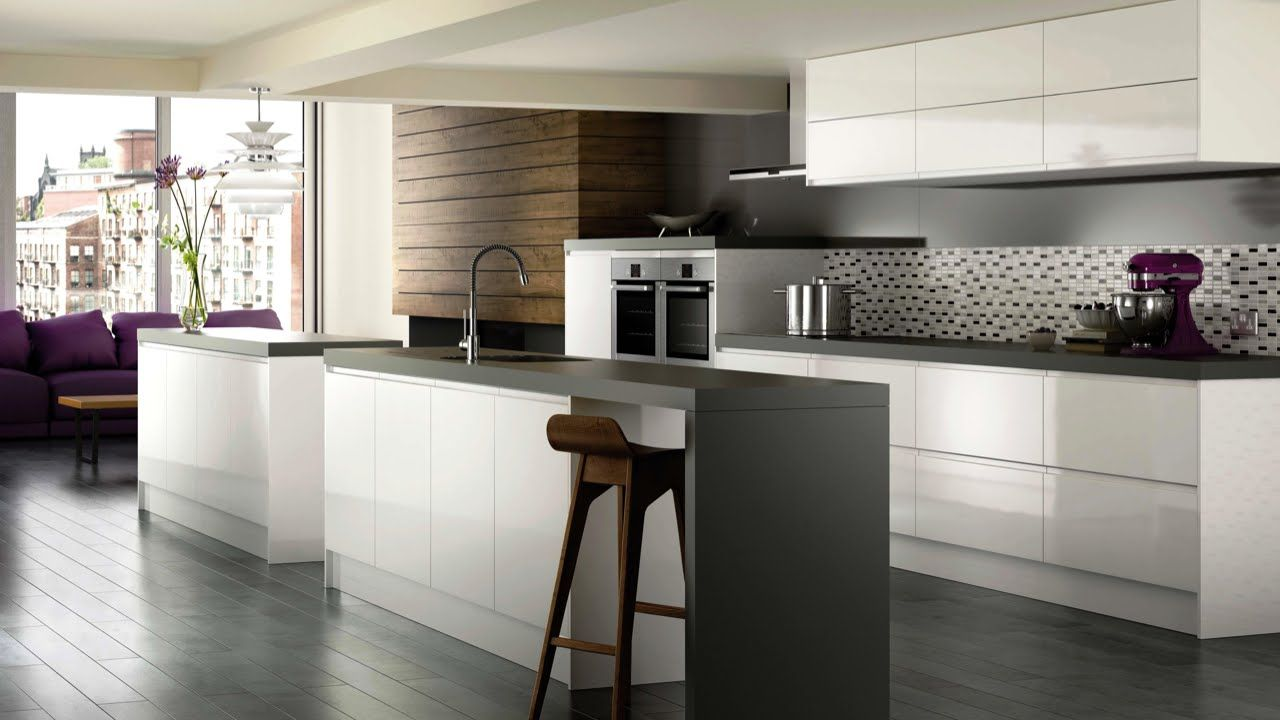 High Gloss Kitchen Advantages And Disadvantages Of A Shiny Kitchen Storiestrending Com In 2020 White Modern Kitchen White Contemporary Kitchen Contemporary Kitchen