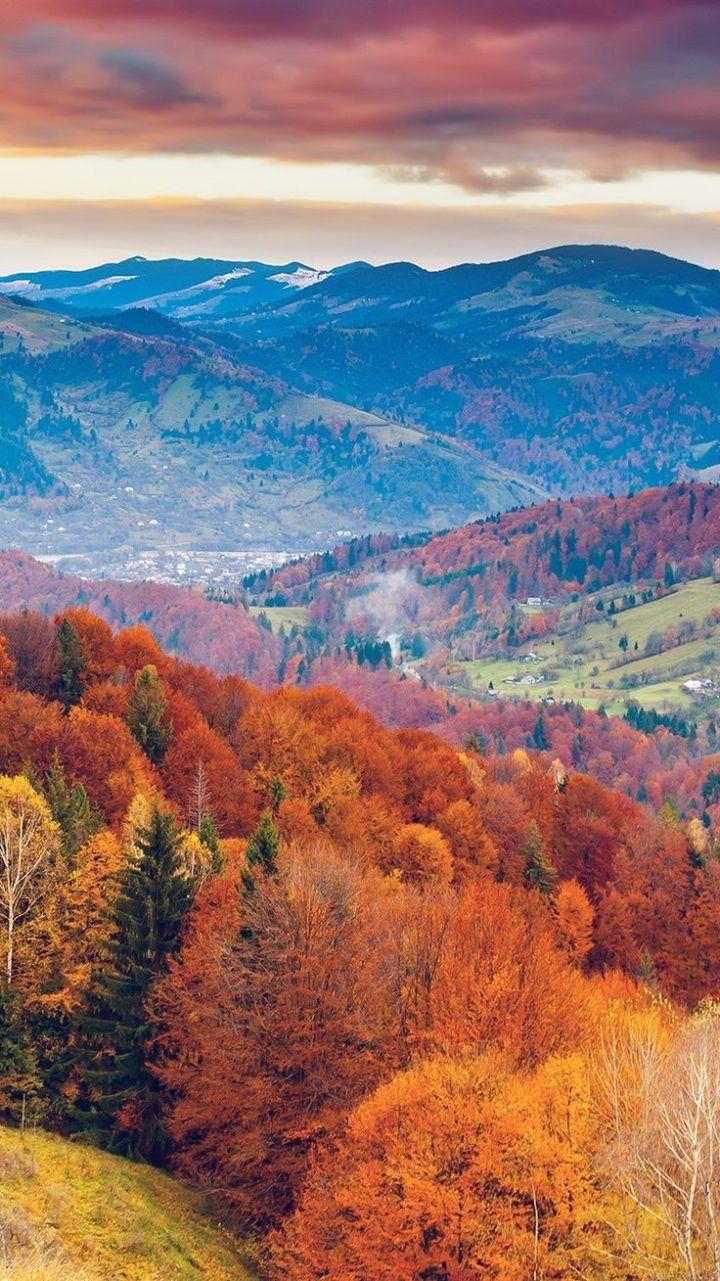 mr50-fall-mountain-fun-red-orange-tree-nature-beautiful #fallwallpaperiphone