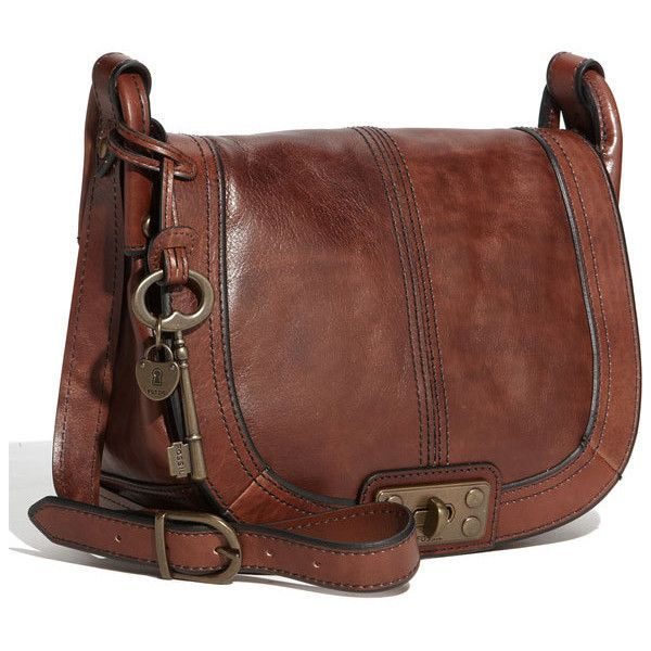 Fossil Leather Crossbody Bag It Is My Birthday Month After All