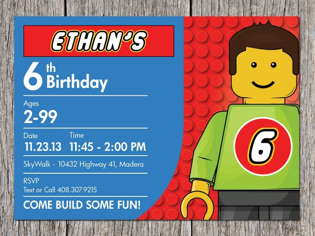 Lego Party Invites - See more about Lego Party Invites, lego movie ...