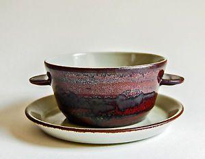Desiree Denmark Fine Stoneware Dinnerware Thule TAB Handled Soup Bowl Saucer | eBay & Desiree Denmark Fine Stoneware Dinnerware Thule TAB Handled Soup ...